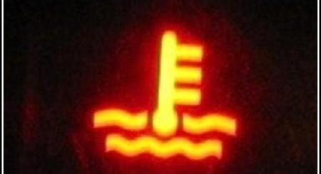 Car Overheat Warning Light