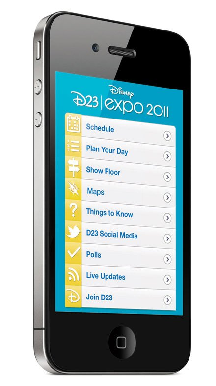 2011 D23 Expo Mobile Website