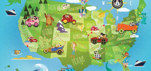 Disney California Adventure Nationwide Pin Set
