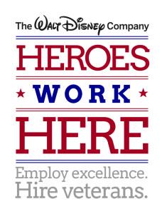 Heroes Work Here Walt Disney Company Hires Veterans Logo