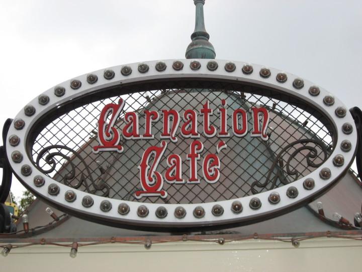 Carnation Cafe Sign Disneyland