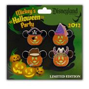 Disneyland Halloween Time Merchandise Mickey Pumpkin Pins