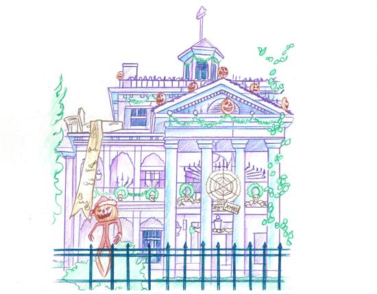 Haunted Mansion Artist Sketches