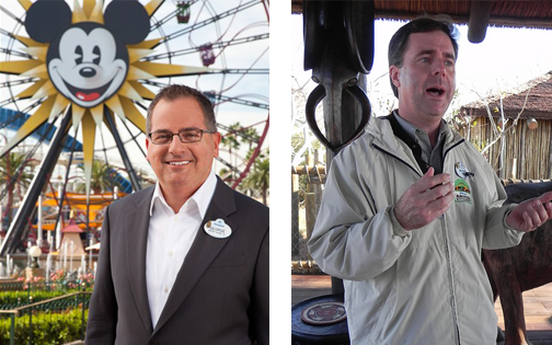 George A. Kalogridis (L) new president of Walt Disney World; Michael A. Colglazier (R) - new president of the Disneyland Resort