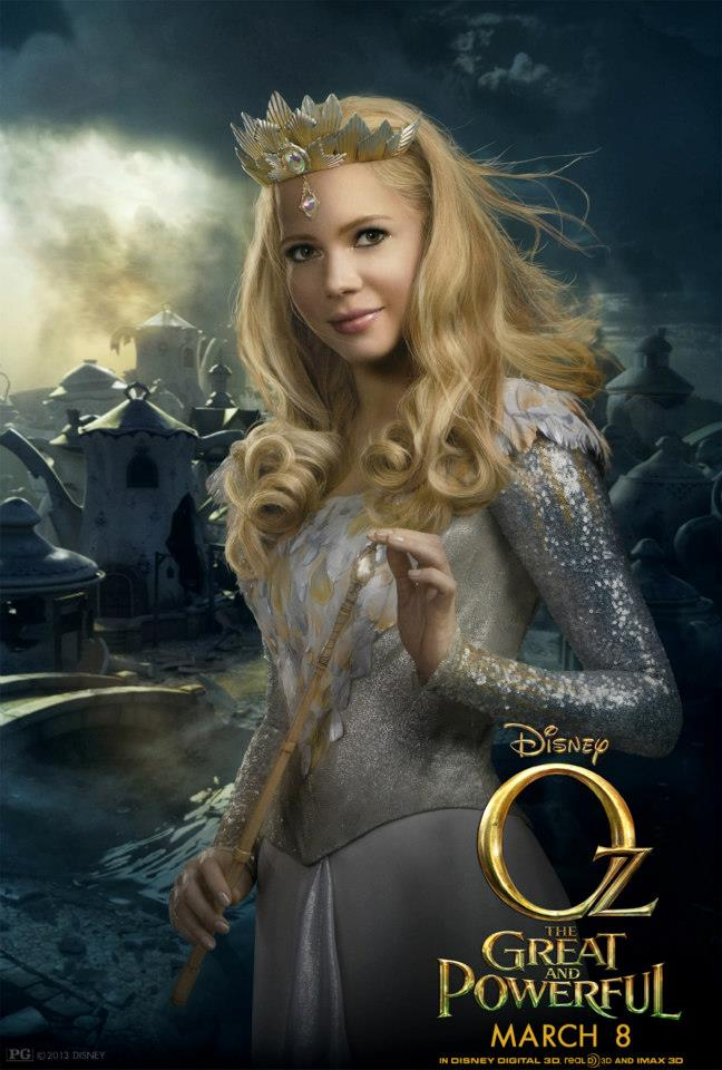 Meet Glinda Played By Michelle Williams Oz The Great And Powerful