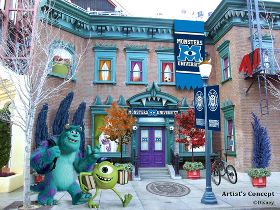 Hollywood Land Sets Monsters University Dorms