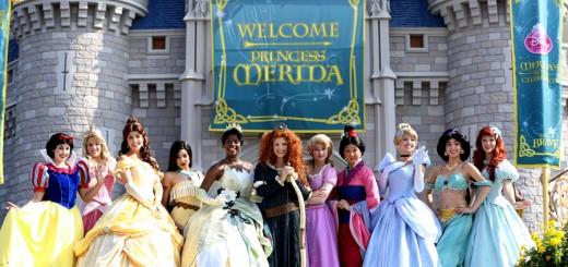 Merida Coronation Disney Princess Group Photo