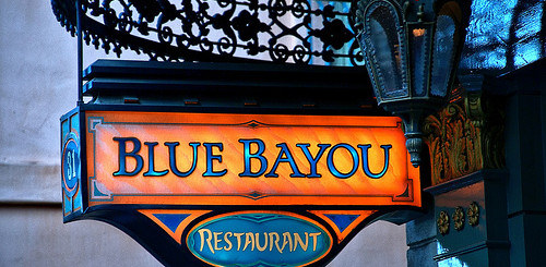Blue Bayou Restaurant Sign