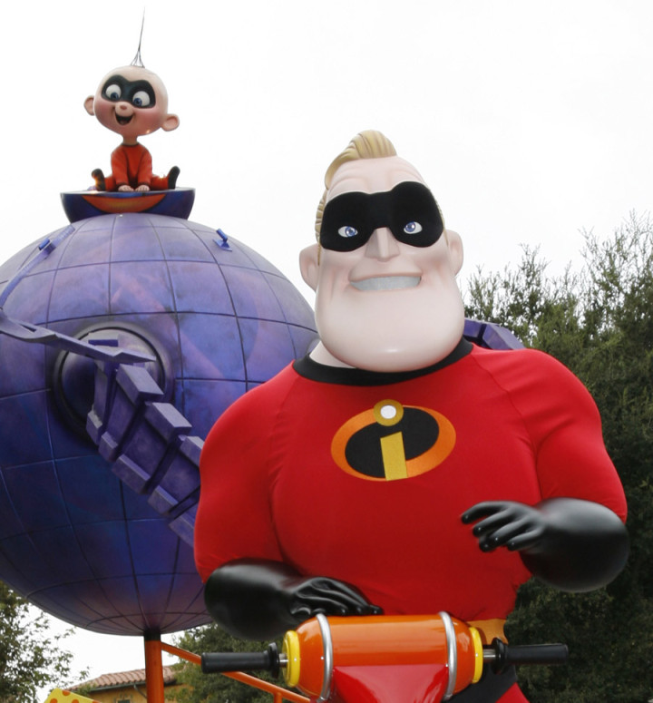 Mr Incredible Jack Jack Disney Pixar Play Parade Disney California Adventure