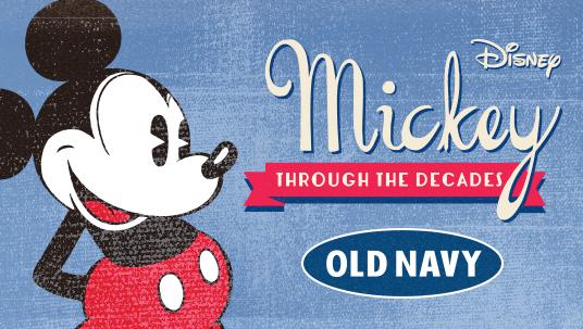 Disney Old Navy Mickey Through The Decades Logo