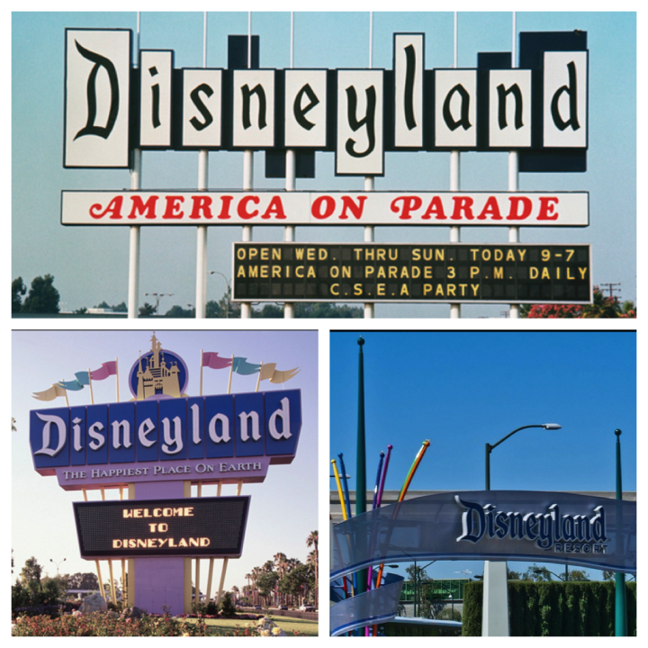 Disneyland Entrance Signs Through The Years