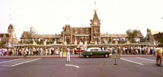 Disneyland Opening Day Rare Color Photo