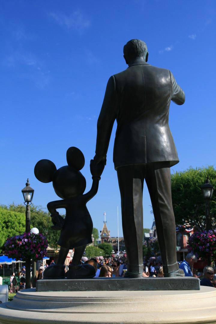 Disneyland Partners Statue Portrait