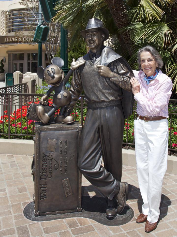 Diane Disney Miller Walt Disney Storytellers Statue Disney California Adventure Park Expansion