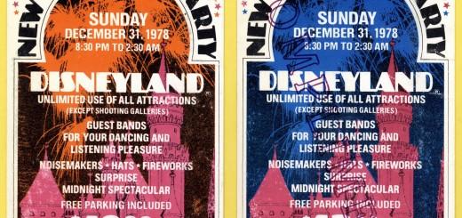 Disneyland Park New Years Eve 1970 Party Ticket