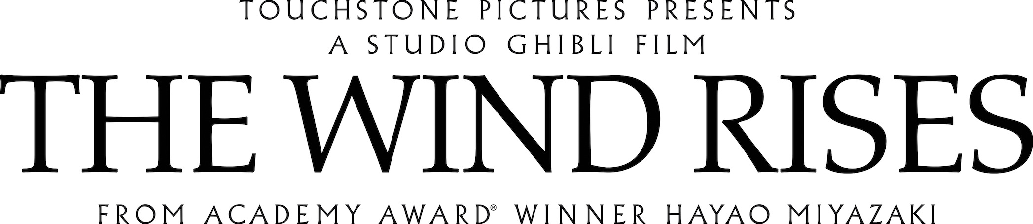The Wind Rises Studio Ghibli Title Graphic