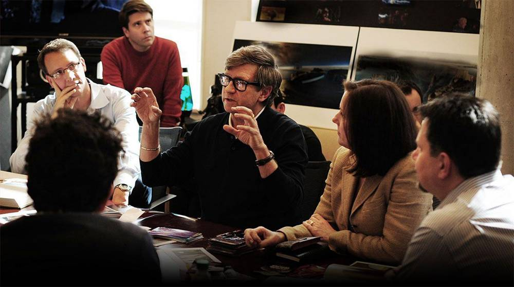 production meeting at Lucasfilm Star Wars: Episode VII.