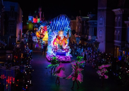 Disney Paint The Night Parade Hong Kong Disneyland Little Mermaid