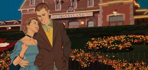Disneyland Date Night Vintage Poster