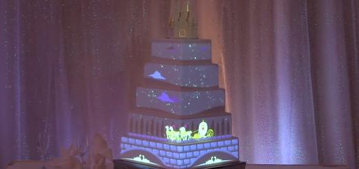 Disney Fairytale Weddings Digital Projection Mapping Wedding Cake