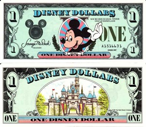 The first Disney Dollar design, circa 1987.