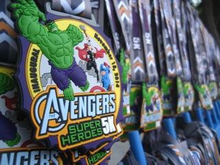Rundisney Avengers Half Marathon Volunteer Hulk 5k Finisher Medallions