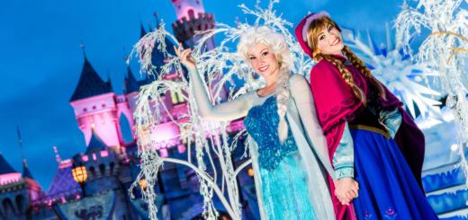 Elsa Anna Disney Frozen Disneyland Sleeping Beauty Castle