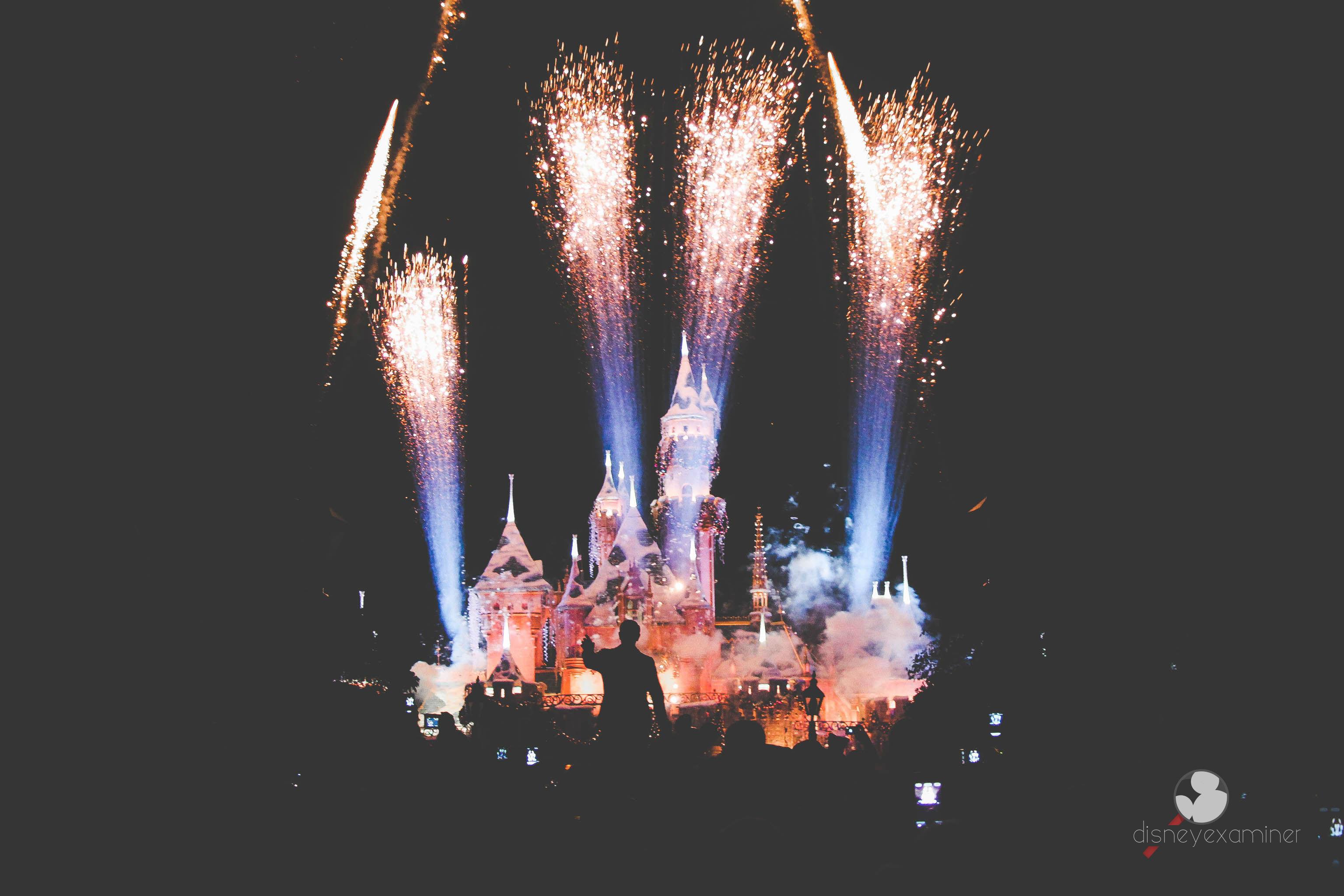 Sleeping Beautys Castle Fireworks Desktop Wallpaper