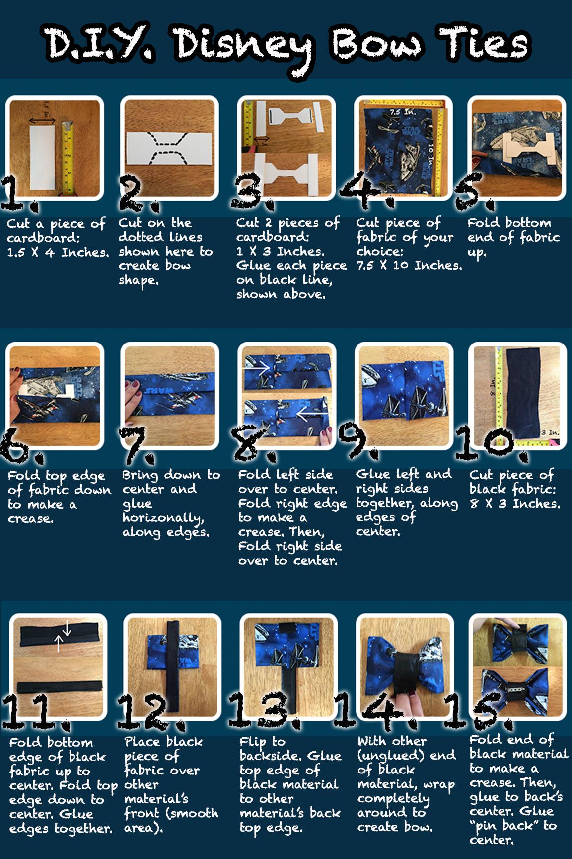 DIY Bowties Steps 1-15