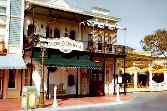 Extinct Disneyland Restaurants Main Street American Egg House 3a Disneyexaminer