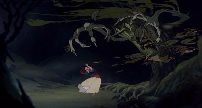 Animated Film Moments Disney Snow White Haunted Forest