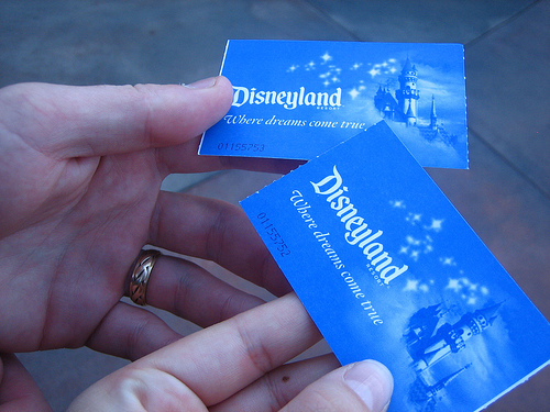 Disneyland Resort Park Hopper Tickets Blue