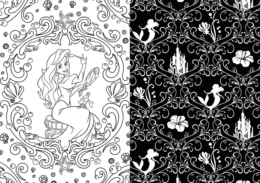 disney-princess-art-therapy-coloring-book-ariel