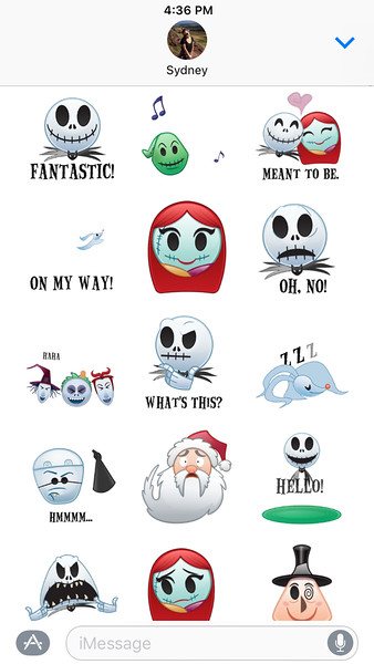 as told by emoji the nightmare before christmas tim burton sticker pack disneyexaminer