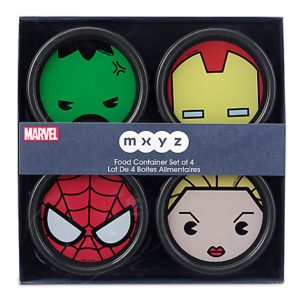 Marvel MXYZ Food Container Set Gift Ideas Grown Ups