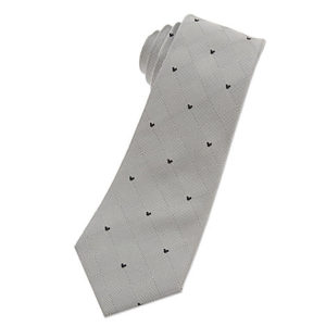 Mickey Mouse Icon Tie for Men Silver Gift Ideas Grown Ups
