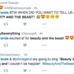 Ariana Grande John Legend Beauty and the Beast Twitter Reaction 2